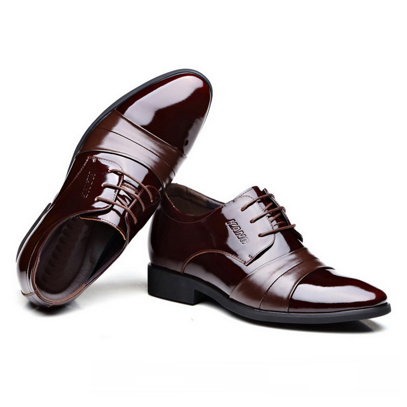 Men's Leather Shoes 2018 New England Leather Shoes Business Leather - Men's Shoes - Photo 2