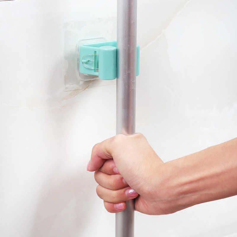 1 шт. швабра с настенным креплением держатель кисти вешалка для щеток Держатель для кухонных приборов органайзер для ванной комнаты с установленными подвесными чистящими инструментами