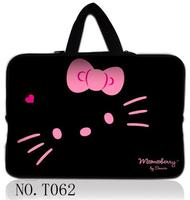 "Pink Kitty 9.7"" 12"" 13"" 14"" 15"" 16 inch 17"" 17.3""15.4"" 13.3""Neoprene Laptop Sleeve Bag Case Notebook Cover Pouch For Dell Hp