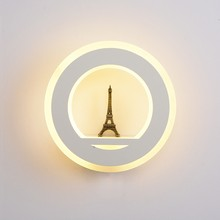 19W Wall Lamp Indoor Light with Eiffel Tower AC85V~265V Segment LED Wall Light for Bedroom Living Room Dining Room(China)