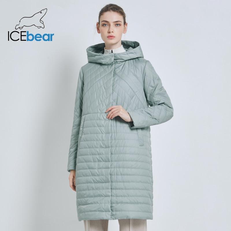 ICEbear 2019 New Long Women s Autumn Coat Casual Female Coats Hooded Women s Clothing Long