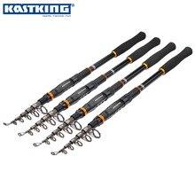 KastKing BlackHawk de Fibra De Carbono Telescópica caña de Pescar 1.8 m 2.1 M 2.4 M 2.7 M 3.0 M 3.6 M Spinning Recorrido de la Varilla varilla de Pesca de Agua Salada