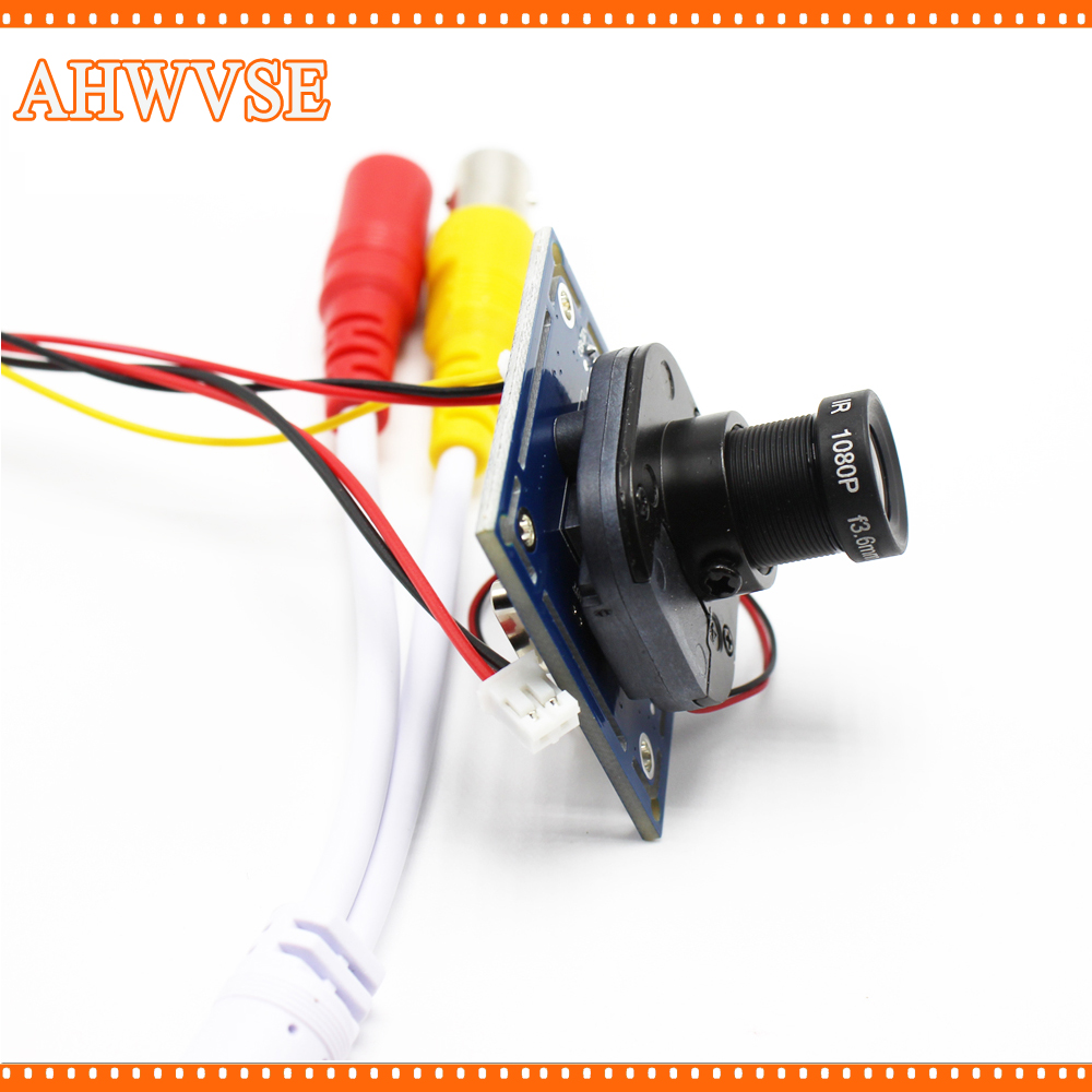 AHWVSE HD 1200TVL CCTV Analog Camera module board with IR-CUT and BNC cable 3.6mm lens Free shipping