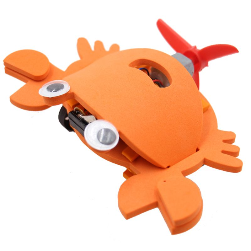 Educational Toys Diy Electric Crab Car Model Assemble Puzzle Kit For Children Outdoor Christmas Gifts
