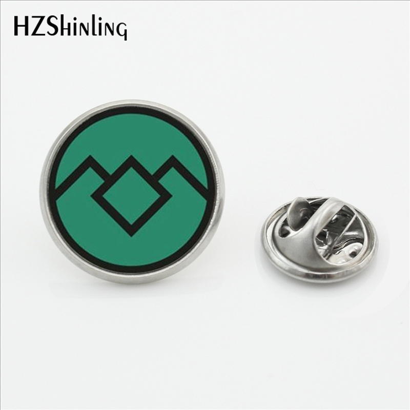 2017 New Arrival Twin peaks Collar Pin Brooch David Lynch movie Jewelry Glass Cabochon Stainless Steel Lapel Pins Brooches
