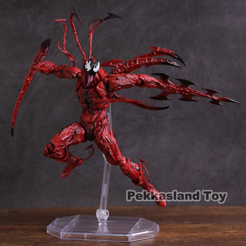 The Amazing Spider-Man Venom Carnage Revoltech Series NO.008 Action Figure Toy Brinquedos Figurals Collection Model цена
