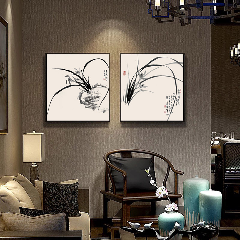 New Chinese Living Room Decoration Painting Restaurant Wall Hanging  Portraits, Meter Box Bedroom Modern Minimalist In Painting U0026 Calligraphy  From Home ...