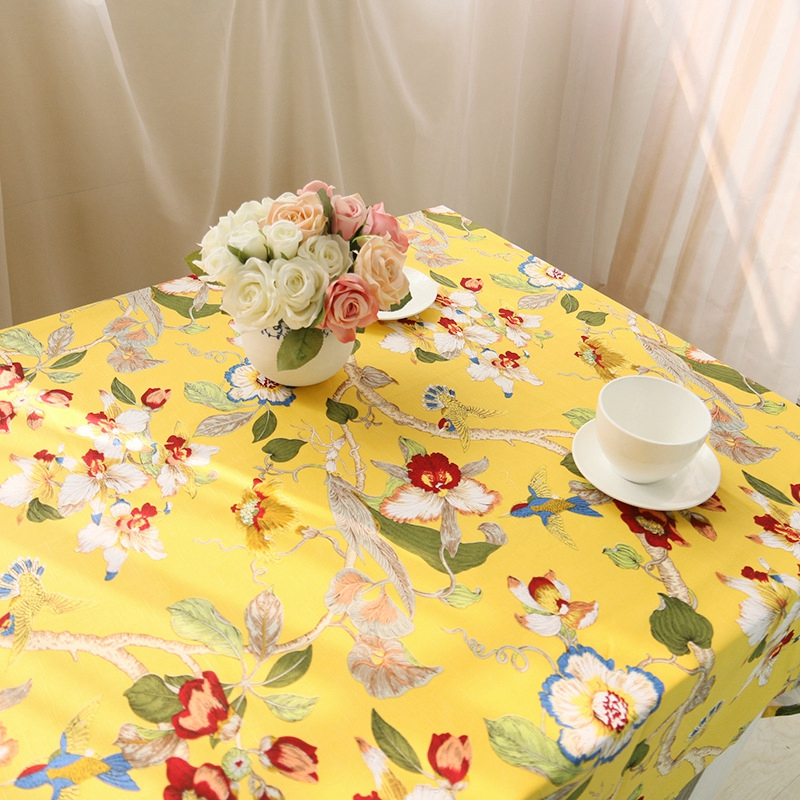 US 35 OFF New Beauty Floral Birds Pattern Chinese Tablecloths Classic Style Vintage Tablecloth High Quality Cotton Table Cloth Rectangular In