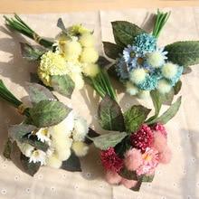 Artificial Pompon Flower DIY Simulation Flowers Wedding Bouquets Home Decor Party Arrangement Wall