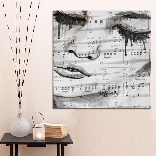aliexpress : druck große weinen mädchen gesicht abstrakte, Wohnzimmer