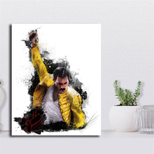 Freddie Mercury Queen Wall Art Canvas Posters Prints Painting Pictures For Office Bedroom Home Decor Accessories Framework