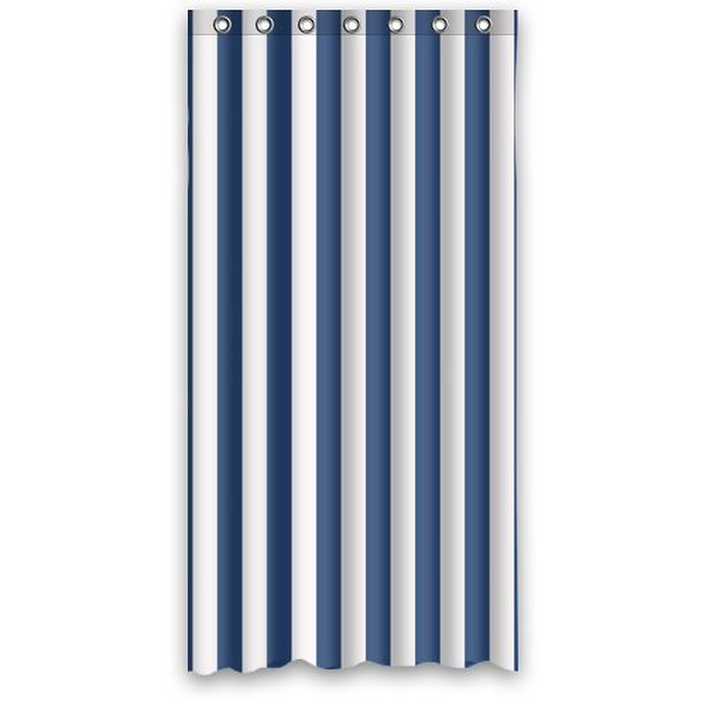 Navy Blue And White Shower Curtain Target Curtain
