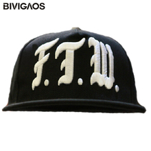 Модные ftw буквы Вышивка черный Snapback шапки танец хип-хоп Шапки скейтборд Бейсболки для женщин Bones Toucas для Для мужчин Для женщин Gorras