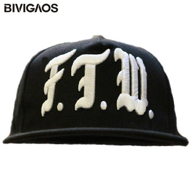 Gorros de béisbol de Skateboard de moda con letras FTW bordado negro  Snapback Gorras de baile 6141b8a33c8