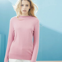 Pure Cashmere Sweater Women Sky Blue Black Pink Khaki Girl Winter Warm Basic Pullover Natural High Quality Free Shipping