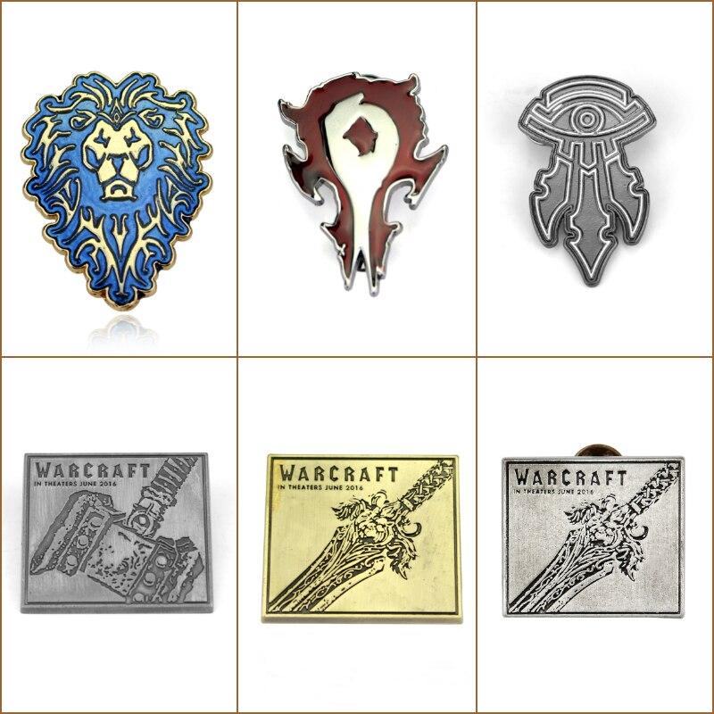 Pin Badge Logo Sign WOW Blizzard Blizzcon Souvenir Christmas Gifts Free Shipping
