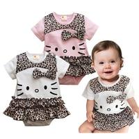 New 2014 Girl Dress Children Baby Girl Minnie Mouse Summer Dress Bebe Infant Puff Short Sleeve