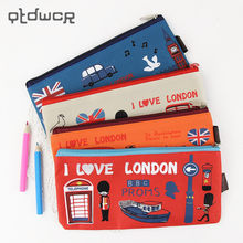 Kawaii I Love London Soldier Oxford Pencil Bag File Case Holder Storage Stationery Office Supplies(China)