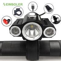 NEWBOLER Bicycle Light USB Adjust Angle Front 3X XML T6 LED Lamp Headlight 10000LM Cycling Lamp