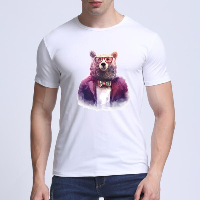 e0f78ccaa52 2018 new With eyes Panda Print Comedy Short Sleeve Cool T Shirt Men T  Shirts Summer Fashion Funny tee shirt homme camisa termica