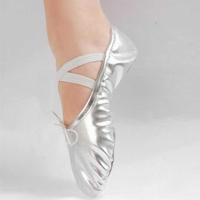 6416b6d1902 New Gold Silver Size 23~44 Children Soft Sole Girls Flats Shoes Women  Ballet Shoes