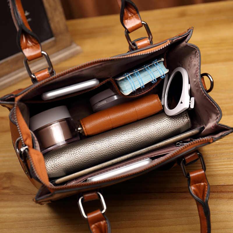 Женские модные сумки через плечо 2019 кожаная сумка-тоут кошелек почтальон Роскошные Сумки Дизайнерская Сумка через плечо сумка-тоут T49