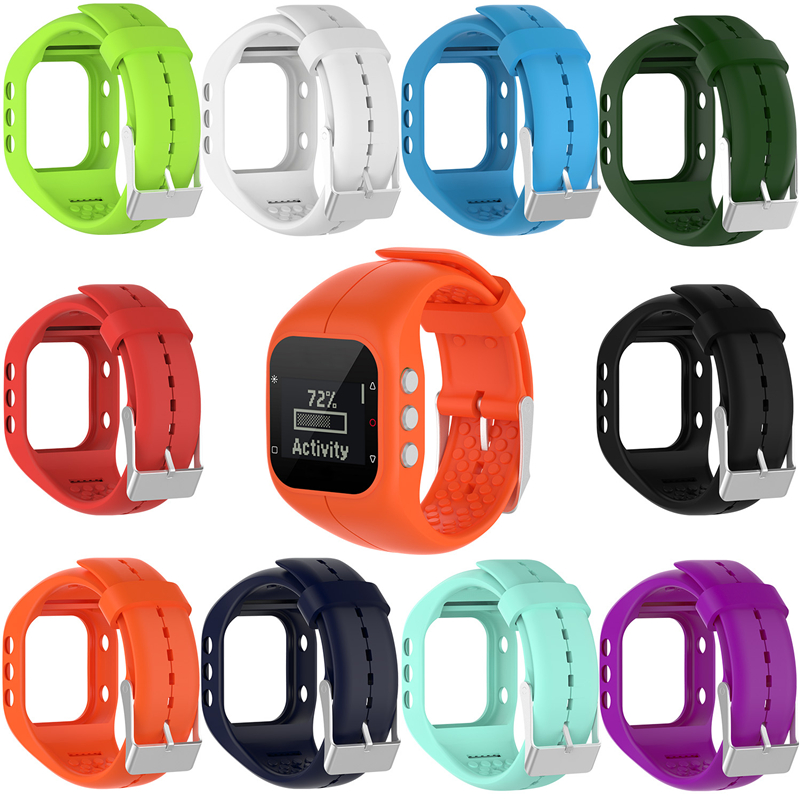 High Quality Replacement Silicone Watchband Wrist Band Straps Bracelet For Polar A300 Tracker Wrist Watch