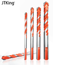 4 masonry drill set concrete tile wood floor bit tungsten carbide tip power tool 6/8/10/12 mm