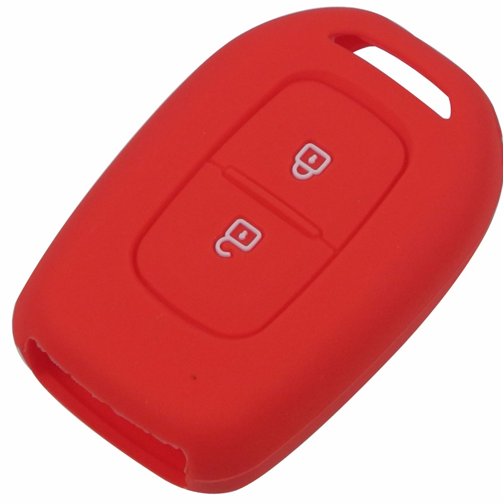 2 B silicone key case cover for Renault scenic master megane duster logan clio captur laguna fluence 2016 2017 remote protected in Key Case for Car from Automobiles Motorcycles