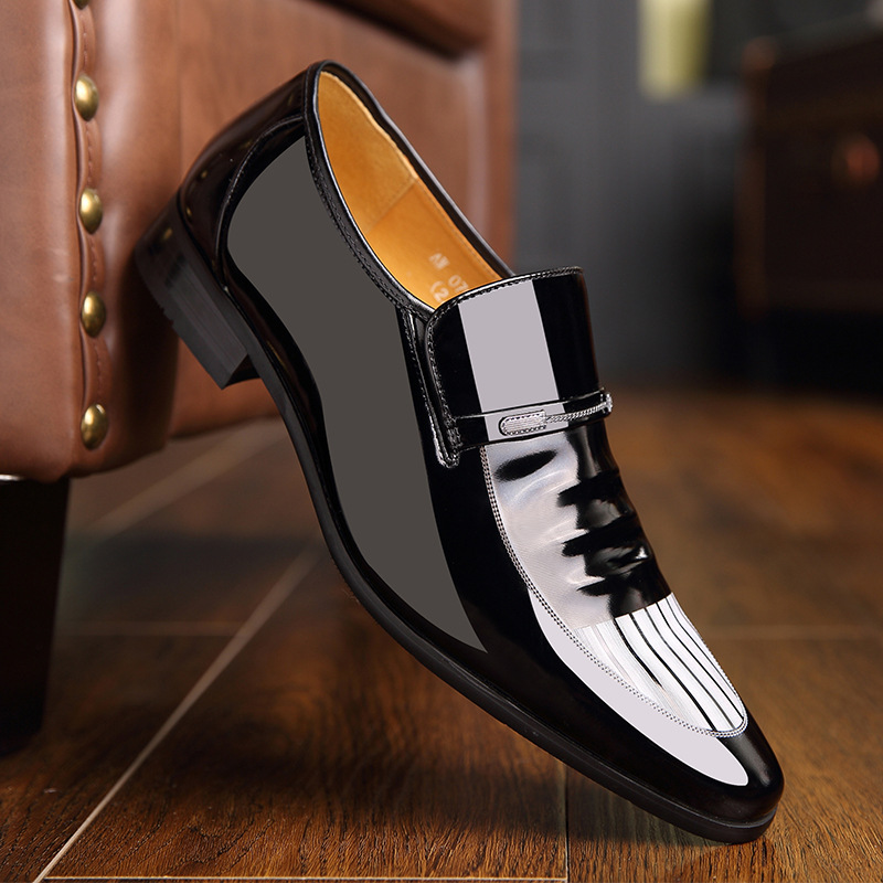 2019 early spring New mens shoes British Korean version pointy business youth autumn black mens formal shoes 37-44 Yasilaiya2019 early spring New mens shoes British Korean version pointy business youth autumn black mens formal shoes 37-44 Yasilaiya