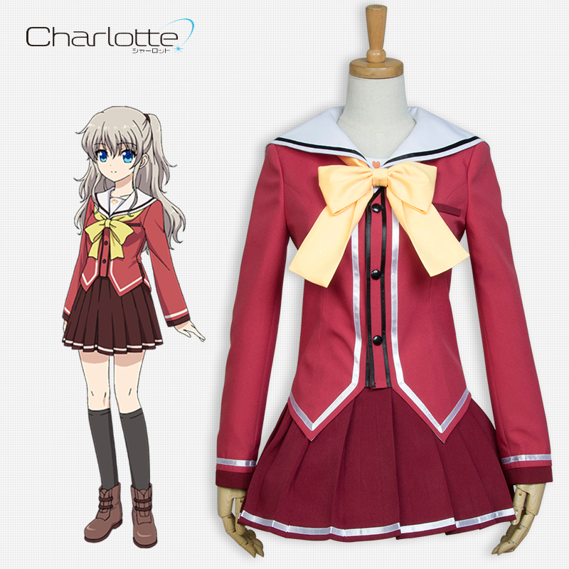 Back To Search Resultsnovelty & Special Use Smart New Anime Charlotte Nao Tomori Red School Uniform Cosplay Costume