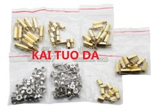 7 Tipi 6 Mm + 6 Millimetri 10 Millimetri + 6 Millimetri 15 Mm + 6 Millimetri M3 Dado 3*6 Vite 6/10 Mm = 7 Valore Dado Vite Colonna di Rame Kit Assortiti Set Pacchetto Circuito Fai da Te bordo(China)