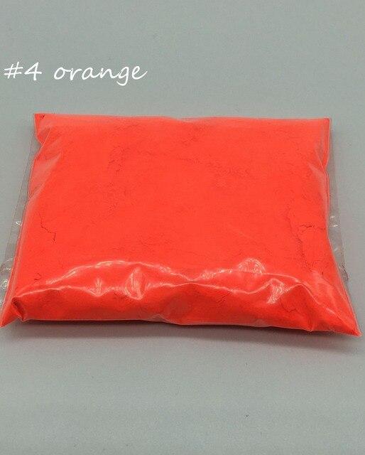 Brillant Sous Uv Lumières 10g Orange Couleur Poudre Fluorescente
