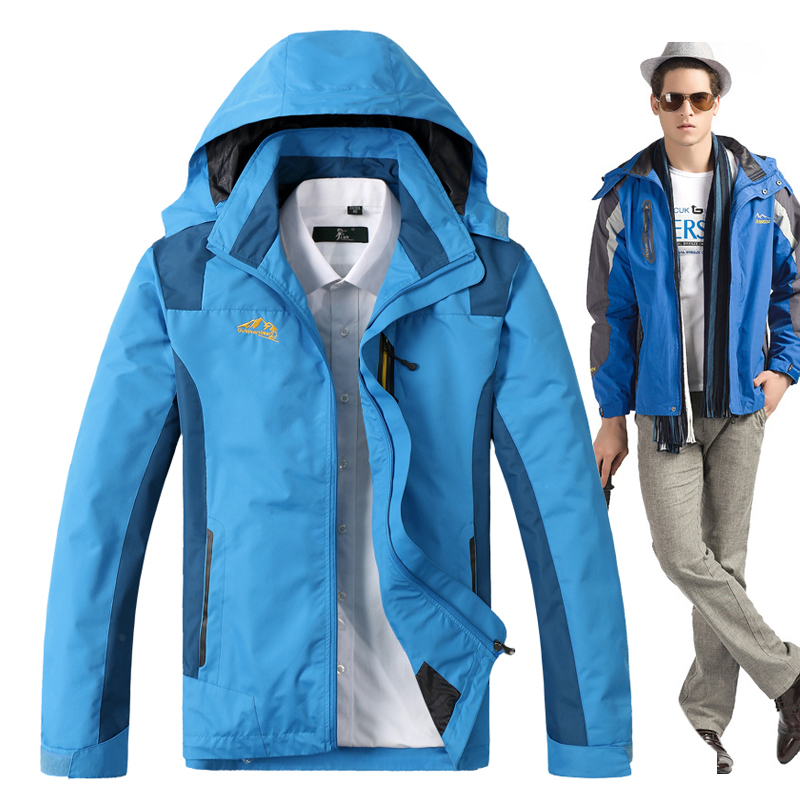 New winter outdoor clothing oversized authentic thin mountaineering wear the plus size men ski ...