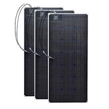 Flexible 3pcs 20 5v 100W Monocrystalline Solar panel cell outdoor 300w DIY 12 Volt kits
