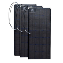 Flexible 3pcs 20.5v 100W Monocrystalline Solar panel cell outdoor 300w DIY 12 Volt kits RV marine home camping use Photovoltaic