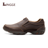 Handmade Genuine Leather Casual Men Shoes Fashion Vintage Men Flats Exquisite Design Non Slip Comfortable Men