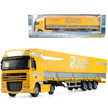 Alloy engineering model children s kid toy car container have box trailer truck Christmas new year
