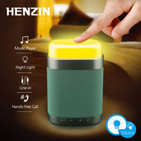 Portable Mini Wireless Bluetooth Speaker Touch Control LED Night Light HIFI 3D Stereo Hands Free AUX