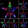 Красочные 10 LED Крытый Открытый Рождественская Елка Топпер Star Lights Лампы Украшения Xmas 29