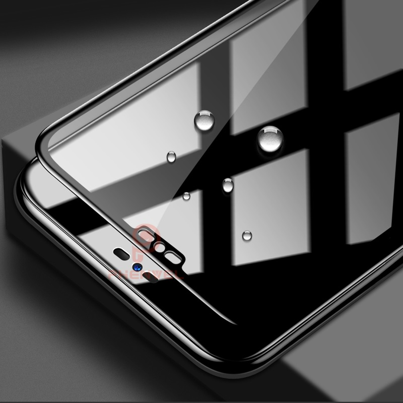 For LG G7 Screen Protector 5D Phenvel 9H Oleophobic Coat tempered Glass For LG G7 Thinq Full Cover Protective film (Black For LG G7)