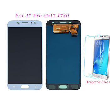 Test LCD Screen For Samsung Galaxy J7 Pro 2017 J730 J730F J730FM Touch Screen Digitizer LCD Display Adjust For Samsung J7 J730 image