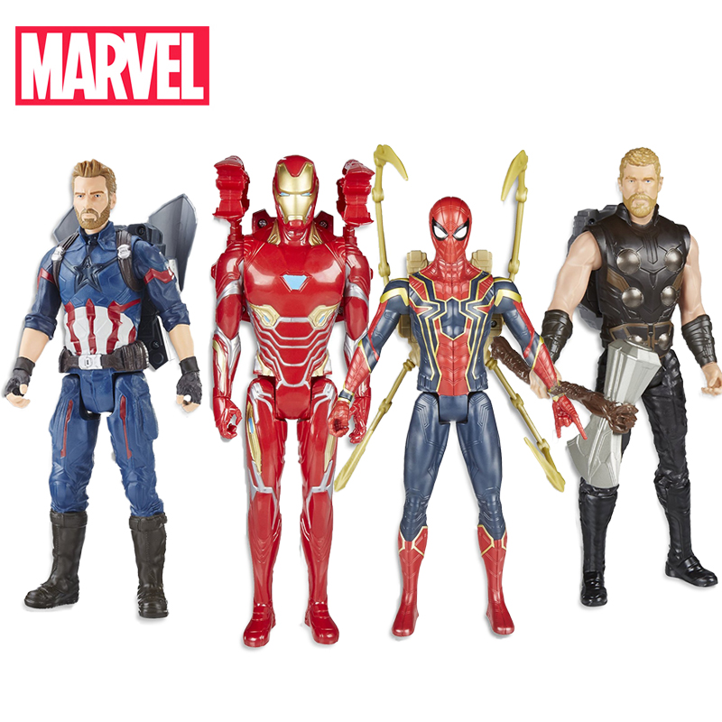 30cm Electronic Marvel Avengers Infinity War Titan Hero Power FX Captain America Spider Thor Iron Man Action Figure Hasbro Toys(China)