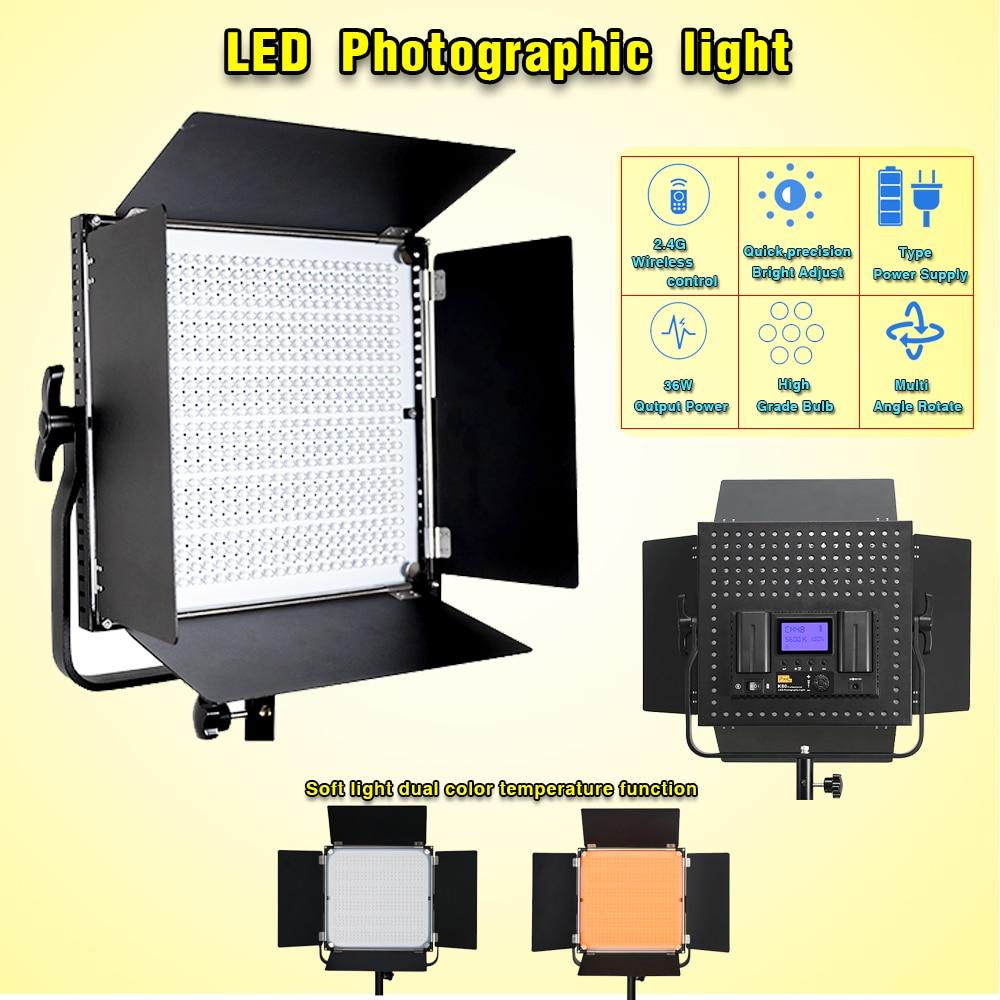 LED Photographic light Fill light tripod Pixel K80 Wireless remote control light Single color temperature Micro movie lights