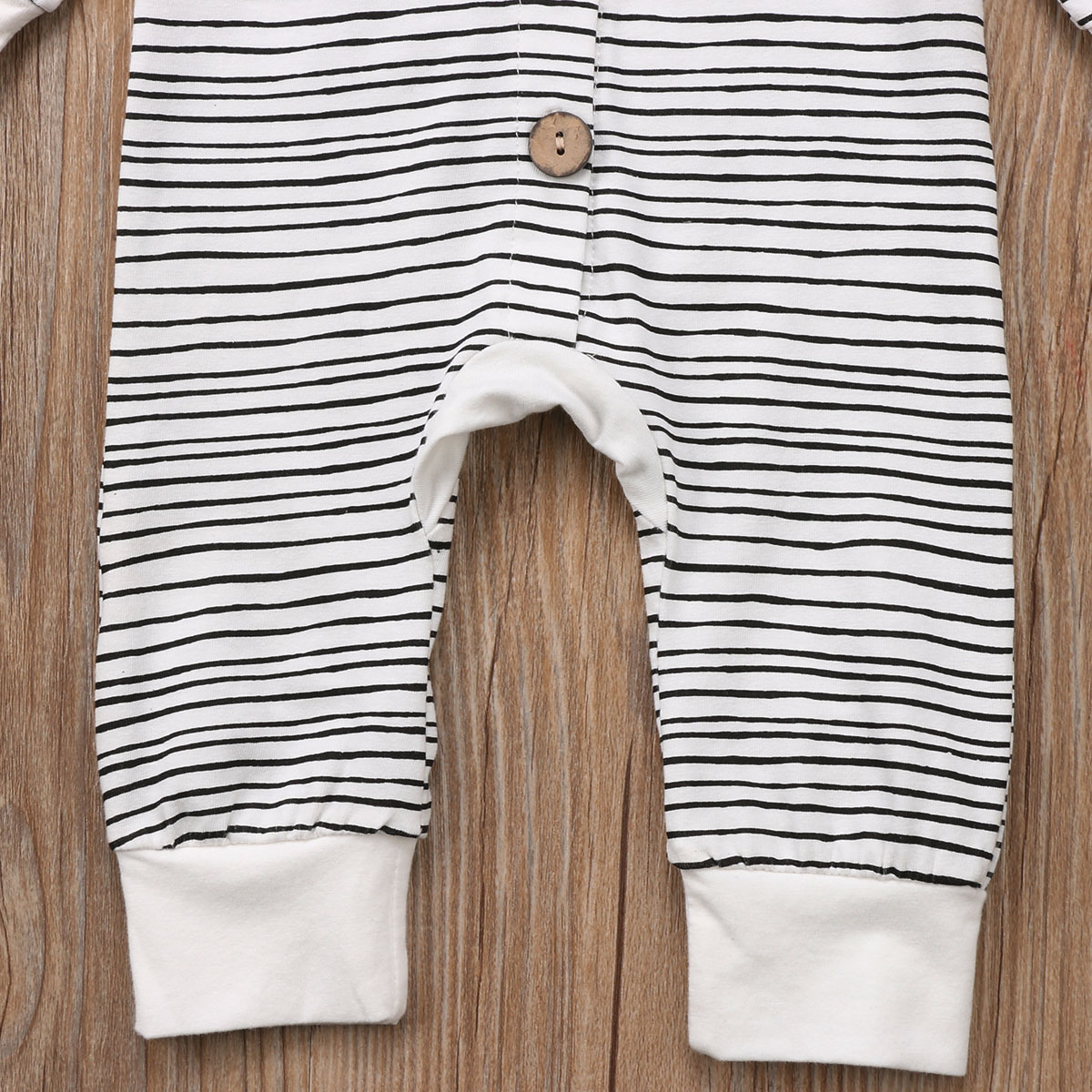 2018 Brand New Toddler Newborn Baby Boy Girl Warm Infant Romper Striped Jumpsuit Hooded Clothes Long Sleeve Outfit