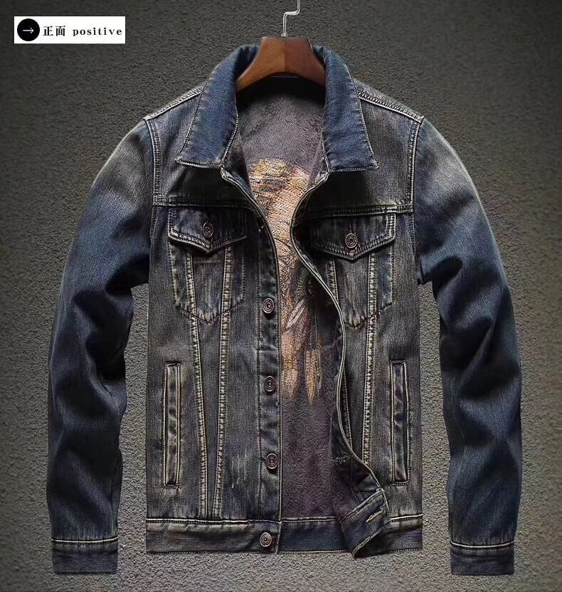 f6cecfd63 2018 New Autumn Indian Chief Motorcycle Jacket Spring Winter Men Denim  Clothing Moto Motocross Jean Jackets overcoat Suit