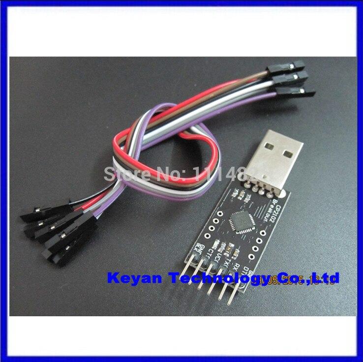 product 20PCS/LOT CP2102 module STC Download USB to TTL Send Dupont Line