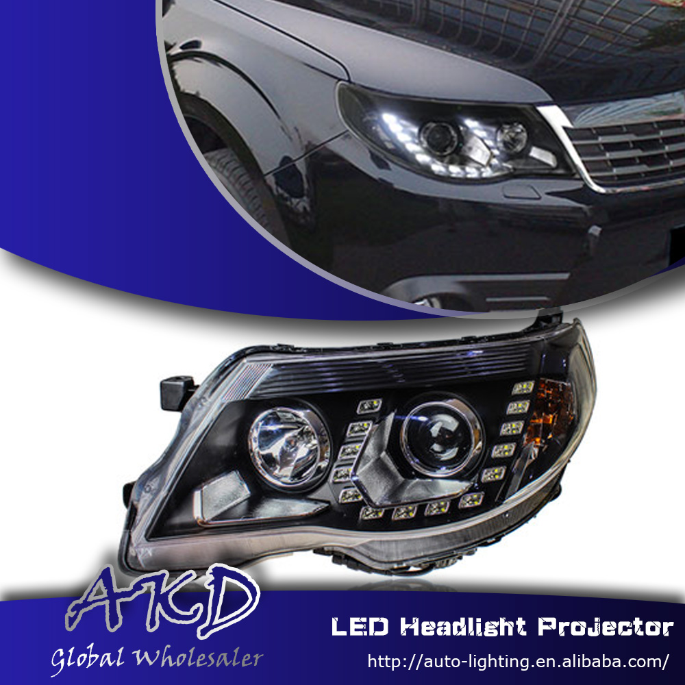 One stop shopping styling for subaru forester headlight forester led headlight drl lens double beam