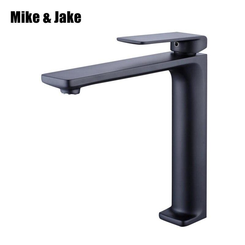 High bathroom black basin crane bathroom faucet stand basin mixer bathroom faucet torneira faucet water tap mixers MJF102072 цена