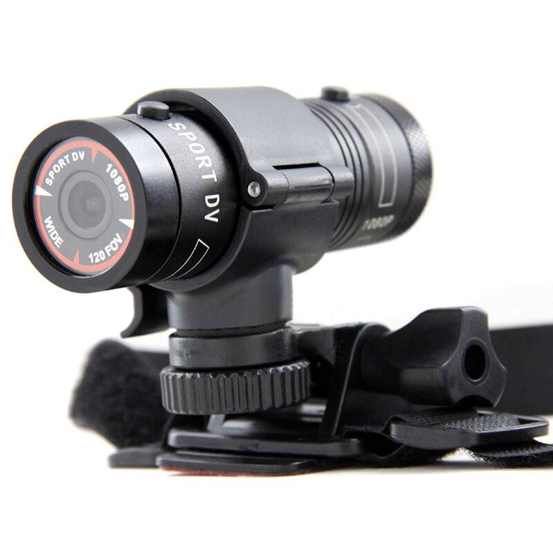 Galleria fotografica Waterproof Motorcycle Helmet Camera Bike Video DV Mini Camcorder Mini F9 Full HD 1080P Outdoor Sports Action DVR Cam